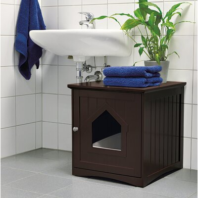 Lohan Cat Home Litter Box Enclosure Color: Brown