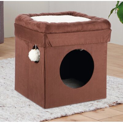 14.75 Miguel Fold and Store Collapsible Cat Condo Color: Brown