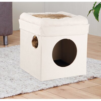 14.75 Miguel Fold and Store Collapsible Cat Condo Color: Beige