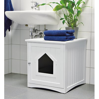 Cat Home Litter Box Color: White
