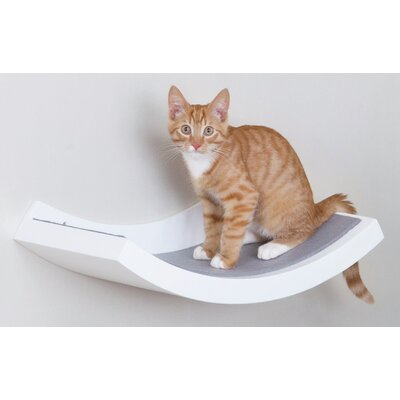 10 Wall Mounted Cat Perch Color: White