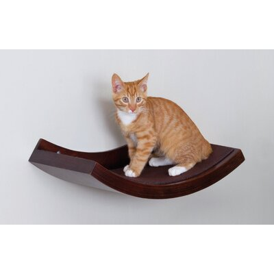 10 Wall Mounted Cat Perch Color: Brown