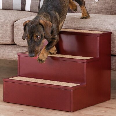 3 Step Pet Stair Color: Brown