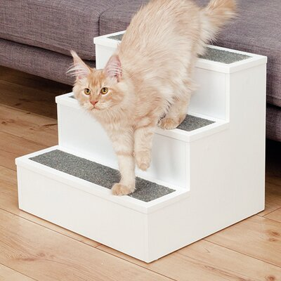 3 Step Pet Stair Color: White
