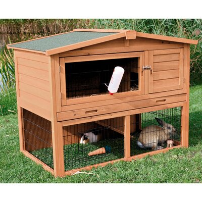 Macleod Small Animal Hutch Color: Brown