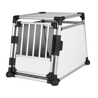 Luther Scratch-Resistant Metallic Pet Crate Size: Large (25.5 H x 24.75 W x 35.25 L)