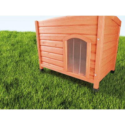Plastic Door for Peaked Roof Dog House Size: Small (14 H x 9.25 W x 0.25 L)