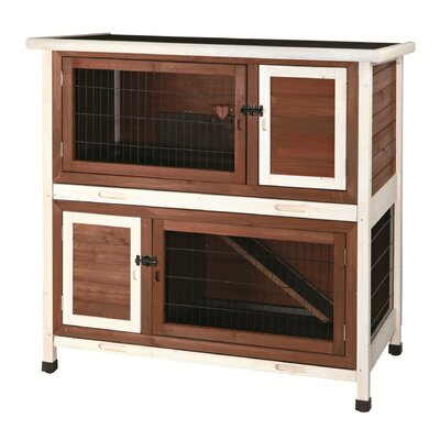 Lowman 2 Story Small Animal Hutch Color: Brown / White