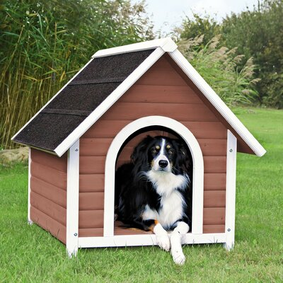 Nantucket Dog House Size: Large (37.25 H x 35.25 W x 41.5 D), Color: Brown / White