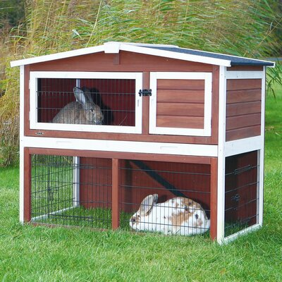 Small Animal Hutch Color: Brown / White