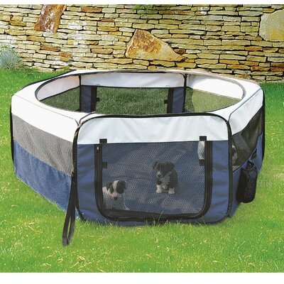 Mabie Soft Sided Mobile Play Pet Pen Size: Small (15.5 H x 35.25 W x 35.25 L)