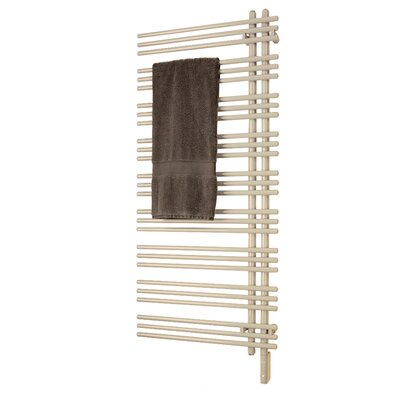 Versus Electric Towel Warmer Size: 52 H x 23 W x 3.2 D, Wiring: Plug-In, Finish: Cream White