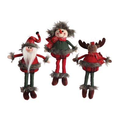 3 Piece Homespun Ornament Set