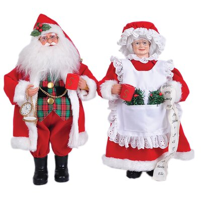 2 Piece Mr and Mrs Claus Set