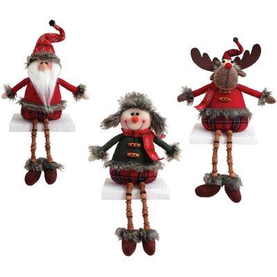 3 Piece Homespun Long Legs Figurine Set