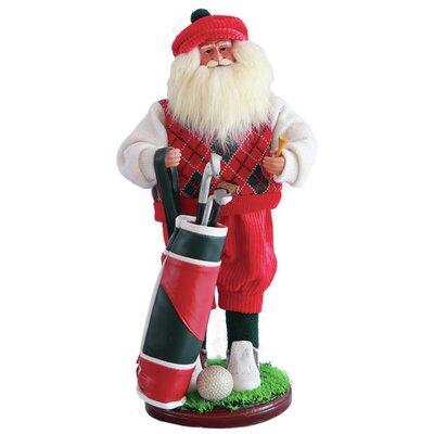 Golfer Santa Figurine