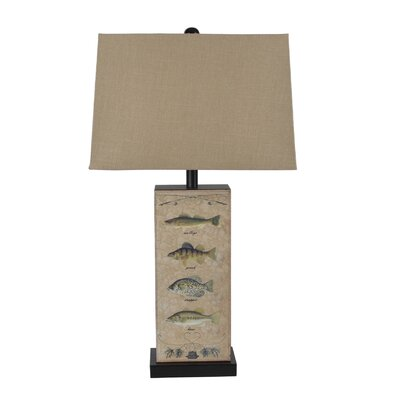 Leather Fish 28 Table Lamp