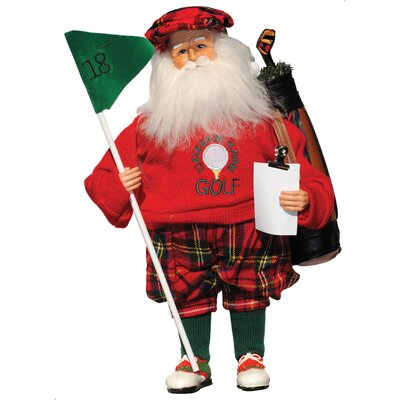 I'd Rather Be Playing Golf Santa Figurine 6607