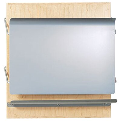 One Pocket HIPAA Application Magazine Rack Back Panel Finish: Oak, Pocket Color: Aluminum Metallic