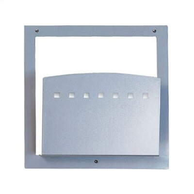 One Pocket Standard Chart Holder with Square Front Holder Type: HIPAA Applications, Color: Aluminum Metallic