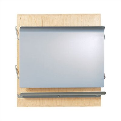 Peter Pepper One Pocket HIPAA Application Magazine Rack - Back Panel Finish: Natural Maple Pocket Color: Aluminum Metallic