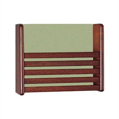 1 Pocket Magazine Rack with Front Slats Wood Finish: Natural Maple, Back Panel Color: Black