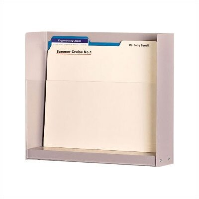 One Pocket Double Capacity Medical & File Chart Holder Steel Shell Finish: Soft White, Wooden Rib Finish: Oak