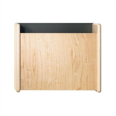 Maple One Pocket Medical & File Chart Holder Back Panel: Aluminum Metallic, Front/Side Panel: Oak