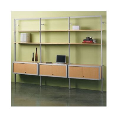 Envision� 84 Bookcase Shelf Finish: Cool Grey Laminate, Credenza Finish: Cool Grey Melamine Product Image 527