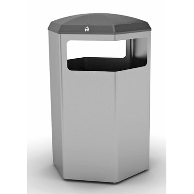 3 Section 16 Gallon Multi Compartments Recycling Bin Finish: Aluminum Metallic, Size: 32 Gallon 1009AL