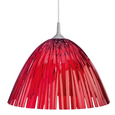 Reed Ceiling/Hanging Lamp Color: Transparent Red