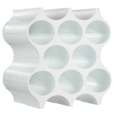 8 Bottle Floor Wine Rack Color: Cotton White