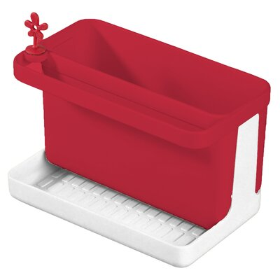 Park It Sink Side Caddy Color: Red / White