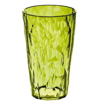 Poseidon Crystal Faceted Water Highball Glass Color: Green