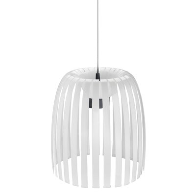 Steinberger 1-Light Bowl Pendant Color: Milk White, Size: Medium