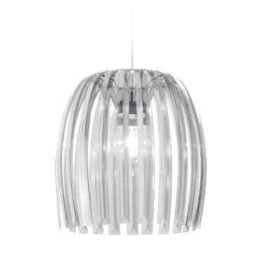 Steinberger 1-Light Bowl Pendant Color: Transparent Clear, Size: XL