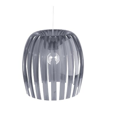 Steinberger 1-Light Bowl Pendant Color: Transparent Gray, Size: XL
