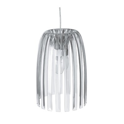 Steinberger 1-Light Bowl Pendant Color: Transparent Clear, Size: Small