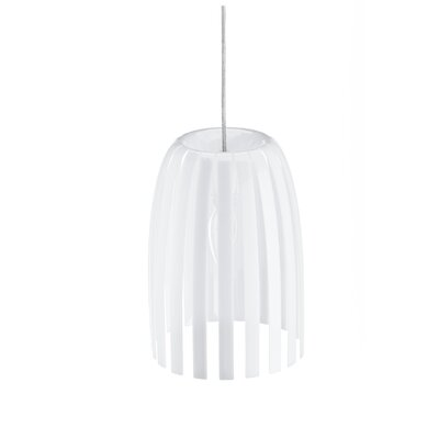 Steinberger 1-Light Bowl Pendant Color: Milk White, Size: Small