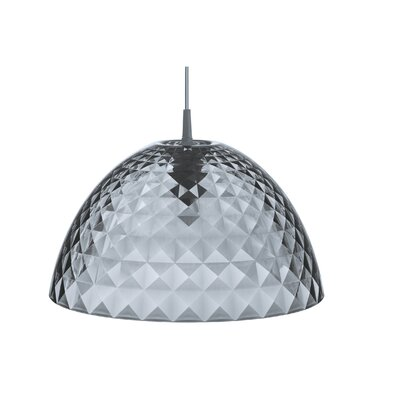Stella 1-Light Bowl Pendant Color: Transparent Gray, Size: Medium