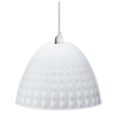 Stella 1-Light Bowl Pendant Color: Milk White, Size: Small