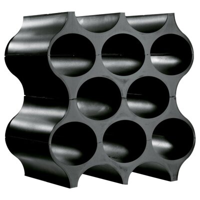 8 Bottle Floor Wine Rack Color: Cosmos Black