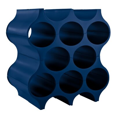 Rehberg Set Up 8 Floor Wine Bottle Rack Color: Blue