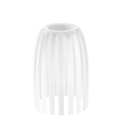 Solid 7.76 Plastic Novelty Lamp Shade Color: White