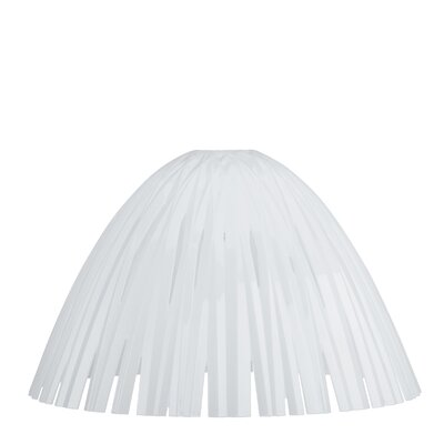 Reed Solid 17.3 Plastic Bowl Lamp Shade Color: White