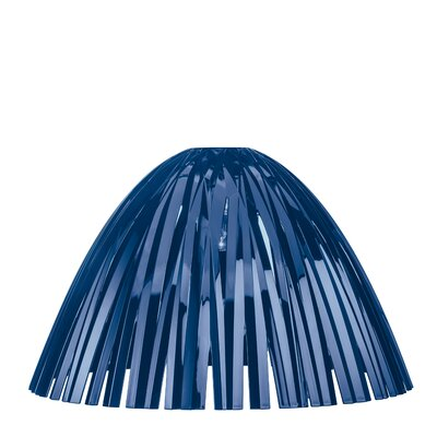 Reed Solid 17.3 Plastic Bowl Lamp Shade Color: Blue