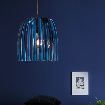 Solid 12.32 Plastic Novelty Lamp Shade Color: Blue