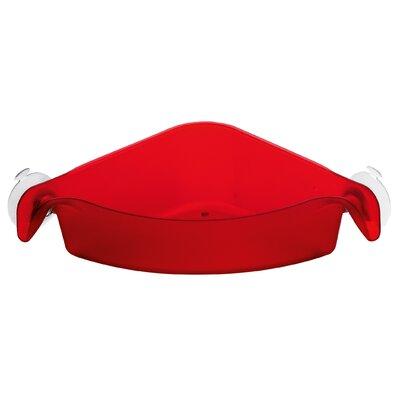 Boks Corner Organizer Color: Transparent Red 5242536