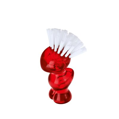 Mini Tweetie Multi Purpose Brush Color: Transparent Red