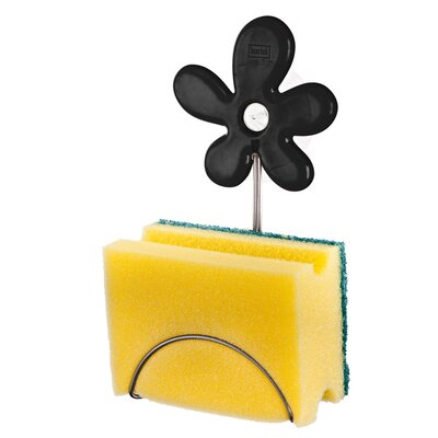 April Sponge Holder Color: Solid Black